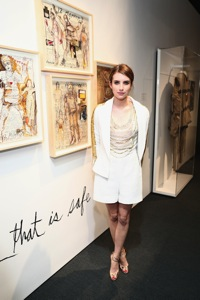 NEW YORK, NY - JULY 10  Emma Roberts attends the Persol Magnificent Obsessions event honoring Julie Weiss and Jeannine Oppewall at the MMI on July 10, 2013 in New York City (1)