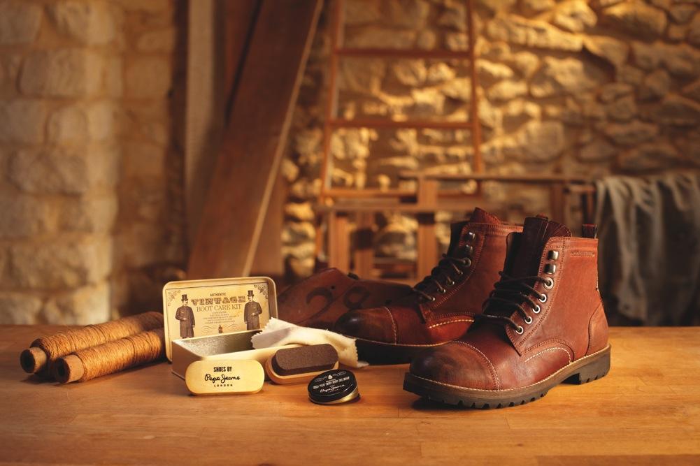 Boots Icon et son kit d'entretien - Pepe Jeans