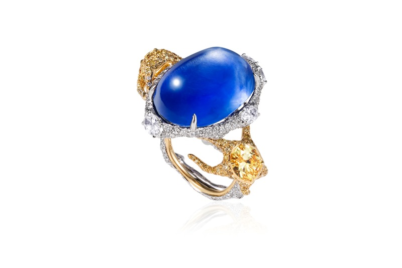CINDY CHAO The Art Jewel - White Label Aquatic Collection Sapphire Ring
