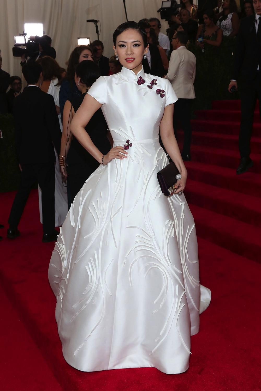 Ziyi Zhang wearing Cindy Chao The Art Jewel