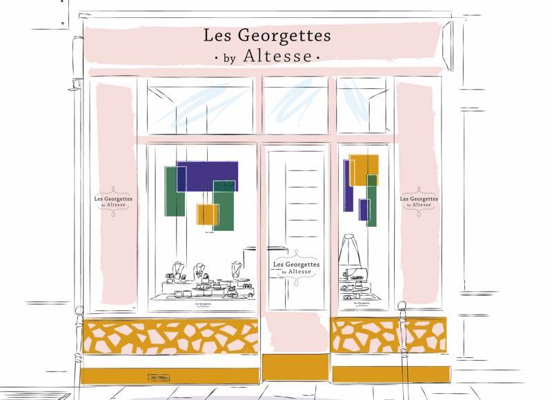 Ouverture d'une première boutique Les Georgettes by Altesse à Paris