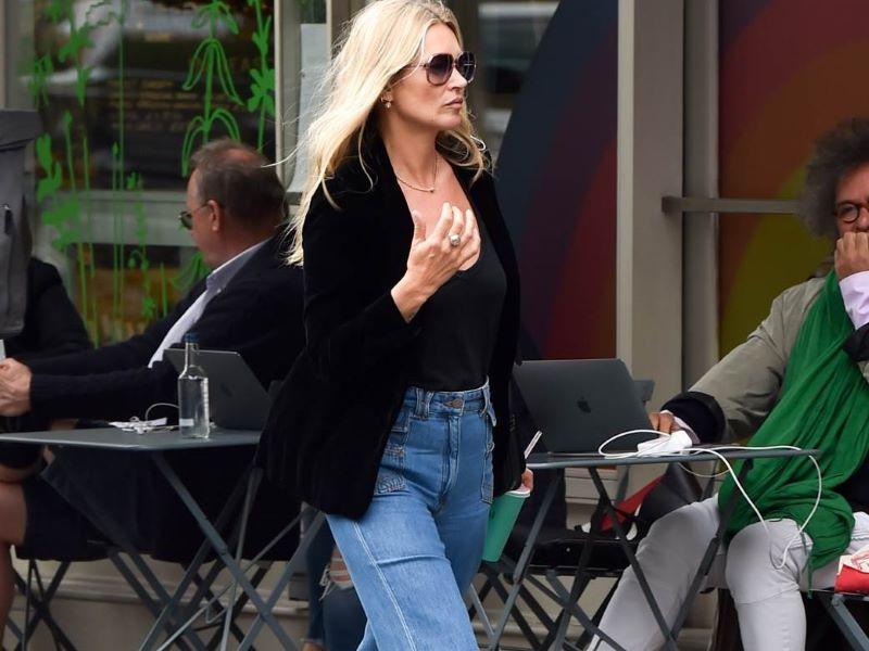 Kate Moss en Gérard Darel avec le jean «Anna», icône de la Maison