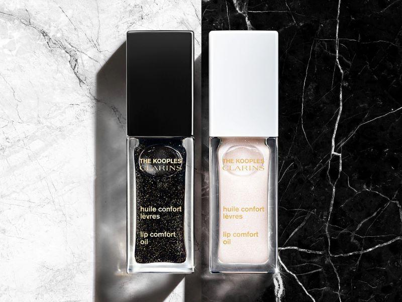 Les Huiles Confort Lèvres Clarins x The Kooples, une collaboration mode et beauté en édition limitée