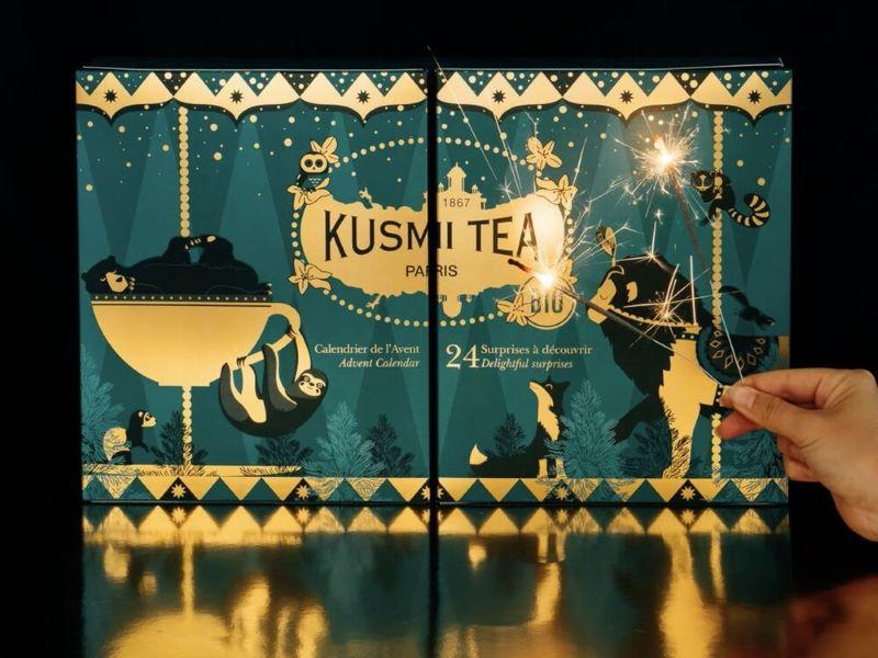 Le Calendrier de l'Avent Kusmi Tea … un coffret bio et beau à la fois