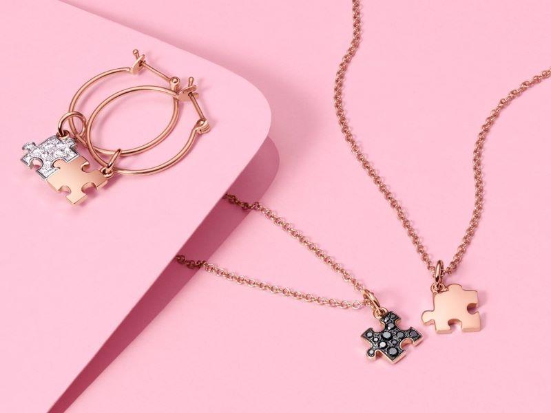 Un + Un = Un avec les nouveaux charms en or rose «Puzzle» de DoDo