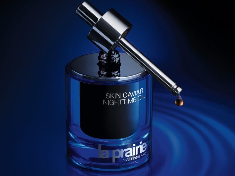 «Skin Caviar Huile de Nuit», soin lissant La Prairie infusé de Caviar Retinol